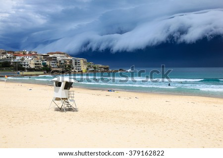 Bondi Beach - Sydney Australia. A massive storm sweeps through Sydney