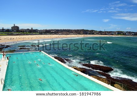 Bondi Icebergs Pool - stock photo