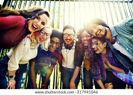 Bonding Community Friends Team Togetherness Unity Concept - stock photo