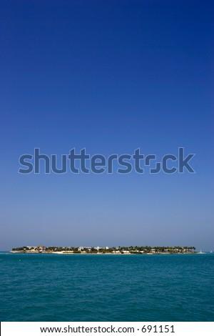 Bone island off key west, Florida,USA - stock photo