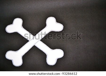 Bones isolated on black - stock photo