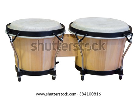 Bongos isolated on white background - stock photo