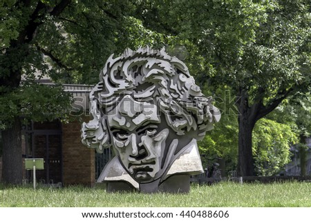 Bonn, Germany - June 10: Beethoven Monument in the city of Bonn, Germany.