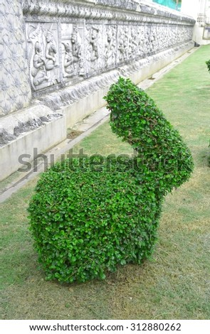 Bonsai tree like rabbit in the public park - stock photo