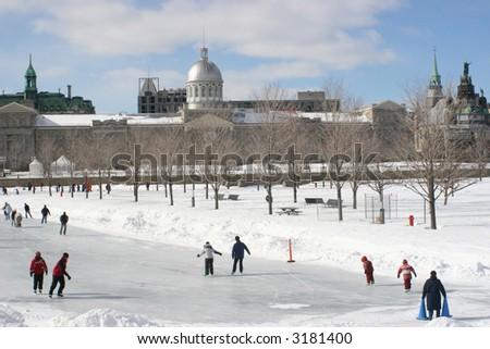 Bonsecours Skating Rink, Montreal, Canada - stock photo