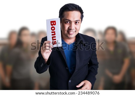Bonus for Business man - stock photo