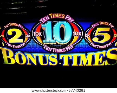 bonus which you hope for when playing the slot machines - stock photo