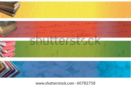 Book banners - stock photo