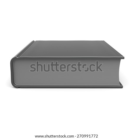 Book blank empty template single brochure hard cover textbook cookbook workbook notebook knowledge content information. 3d render isolated on white background - stock photo