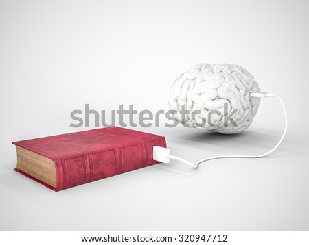 Book charging brain concept - stock photo