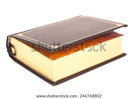 Book cover isolated on white background - stock photo