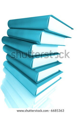 Book 3d render illustration isolated on white background. Back to school. Education, university, college symbol or knowledge, books stack, publish, page paper. Design element