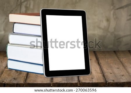 Book, E-reader, Digital Tablet. - stock photo