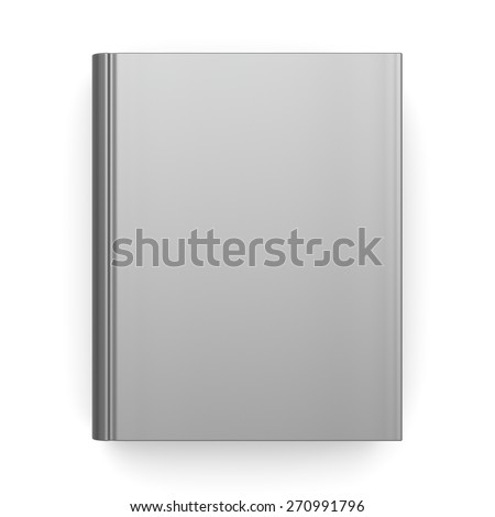 Book empty blank clean template single brochure hard cover textbook cookbook workbook notebook knowledge content information. 3d render isolated on white background - stock photo