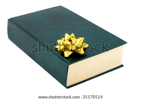 book gift , close-up isolated on white background - stock photo