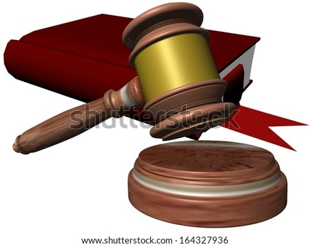 book hammer law - stock photo