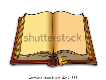 book illustration - stock photo