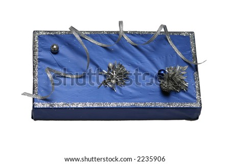 book in gift packing for a holiday - stock photo