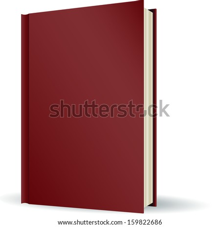 book is on the side of the blank template for design