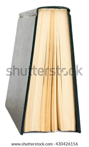 Book isolated on white background, close up view - stock photo