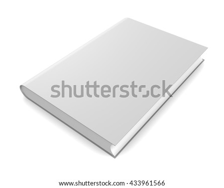 Book isolated on white background. 3d render
