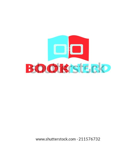 Book nerd vector - stock photo