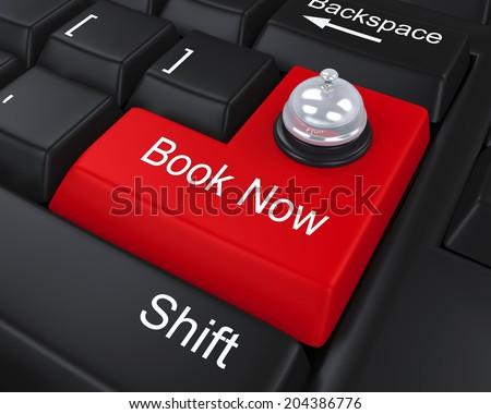 Book Now Enter Key - stock photo