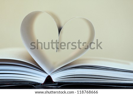 Book of love - stock photo