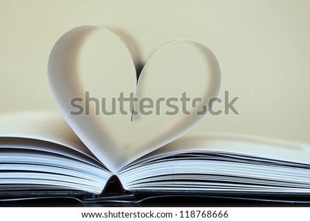 Book of love - stock photo