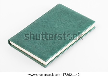 book on the white background - stock photo