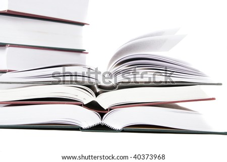 book on white isolated