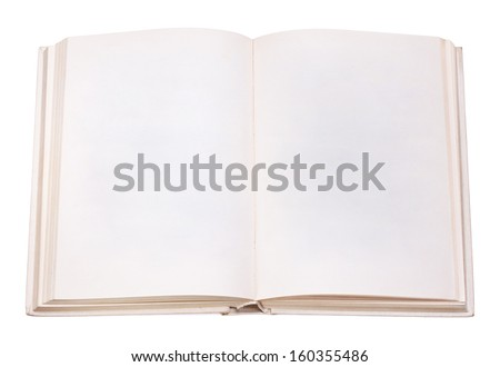 book open isolation, on a white background