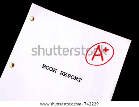 Book Report  A-Plus against Black Background