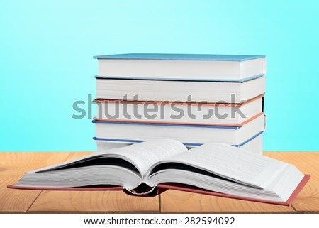 Book, Stack, Isolated. - stock photo