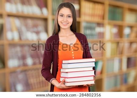 Book, Student, University. - stock photo