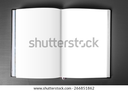 Book template ready for your artwork - with clipping path - stock photo
