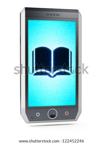 Book  This is my own design of smart phone, therefore you can use this picture for commercial purposes. Full collection of icons like that is in my portfolio