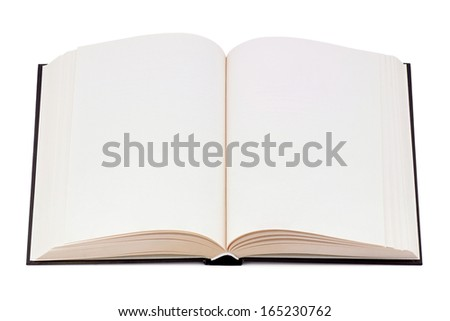 Book with blank page. - stock photo