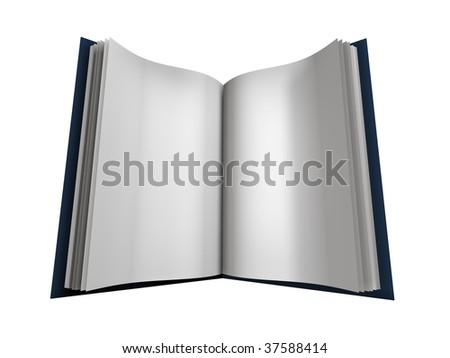 Book with white page on white background