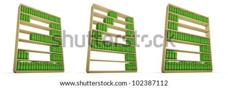 Bookcase alphabet