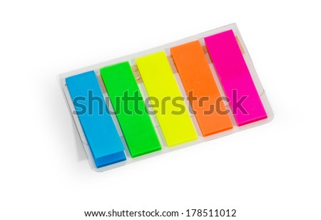 Bookmark stick note - stock photo