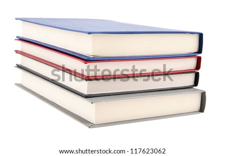 books are isolated on a white background