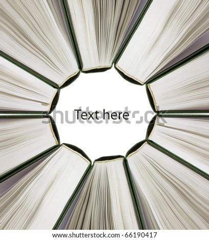 Books circle - stock photo