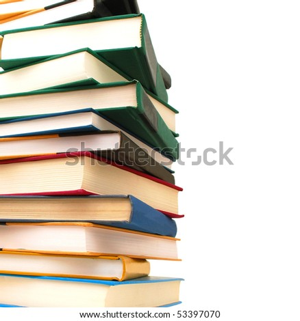 books collection in study - stock photo