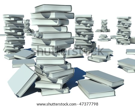 bookS color - stock photo