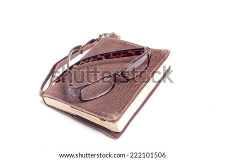 books, glasses  - stock photo