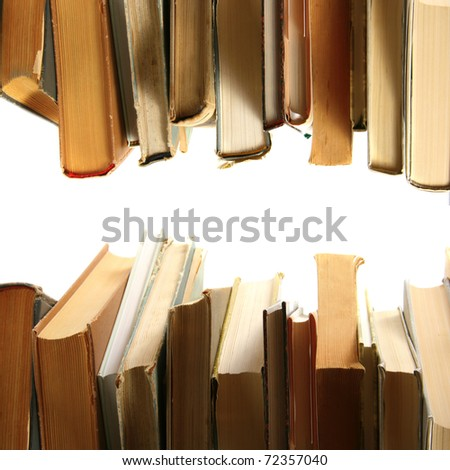 books in a row - stock photo