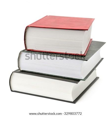 books isolated on a white background - stock photo