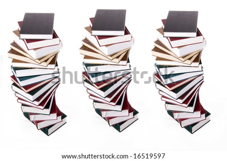 books isolated on white background - stock photo