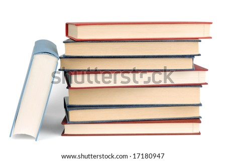 Books isolated on white background